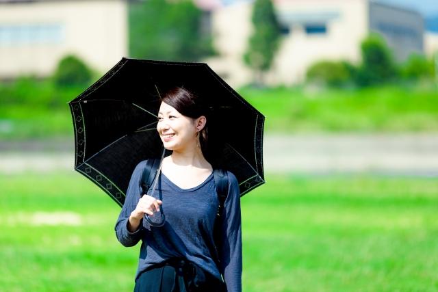 4. 日よけ傘を使用して顔周りの日焼け対策